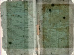 Пример листов в хорошем и плохом состоянии метрических книг о родившихся