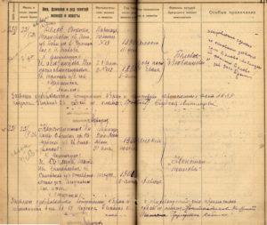Листы книги записей актов гражданского состояния о браке